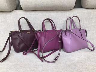 AUTHENTIC COACH MINI KELSEY IN PEBBLE LEATHER  (F57563)