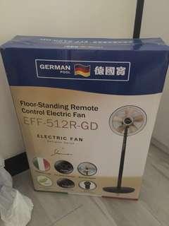 全新 德國寶座地無線遙控電風扇