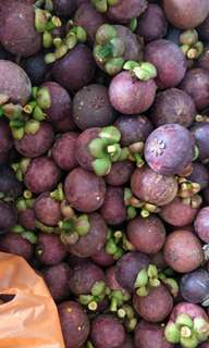Fresh mangosteens