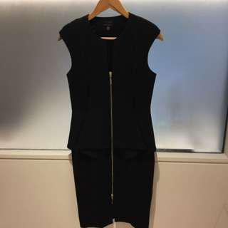 Ted Baker Peplum Dress Sexy Size 2 fits ten