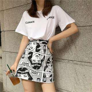 [PO]Comic Girl A Line Skirt