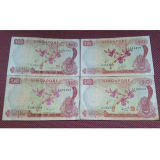 Singapore Orchid $10 Complete Set