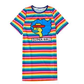 Colorful Long Tee S size