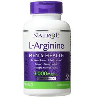 Natrol L-Arginine 3,000 mg Tablets, 90 Count