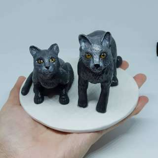 Polymer clay - customise cat figurines