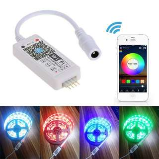 Tomshine DC5-28V Mini RGB Wifi Smart Controller Dimmer Output 3 Channels Free App Support Sound Activated for LED Strip Light
