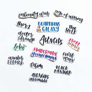 🚚 Avengers Design 2 Stickers