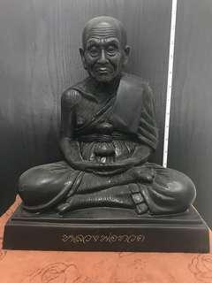LP Thong. Wat Sampaocher. LP Thuad 9 inch Bucha. Serial no: 186. 2552. $700