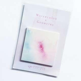 🚚 Watercolour Square Post it