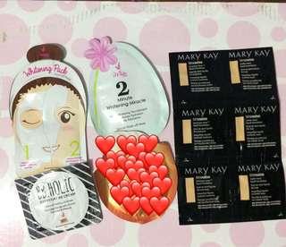 iwhite korea products & Marykay sample size foundation