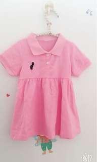 🚚 Polo粉色小洋裝🌸