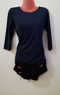 Backless Top (Dark Blue)