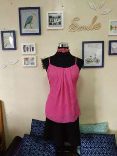 New York & Co. Pink Blouse