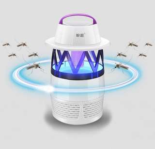 (436) Lantern Mosquito Killer Lamp LED Photocatalyst Mute Fan Night Light Insect Repellent