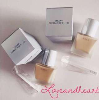 BNIB RMK Liquid Foundations & Creamy Foundations N in shades 103 and coffee brown