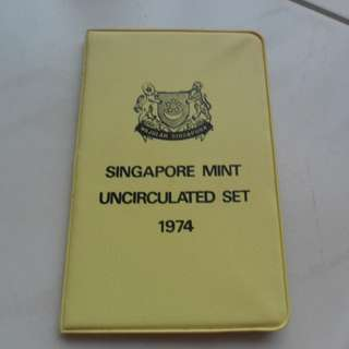 1974 Singapore Uncirculated Coin Set