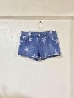 Stars Denim Shorts