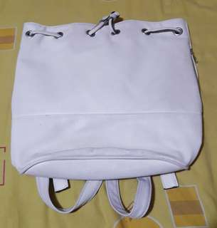Backpack Stradivarius white ORIGINAL