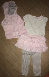 3pc pants shirt jacket set 2t