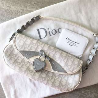 100% Authentic Dior classic white girly shoulder hand bag