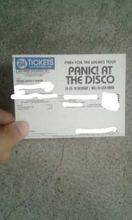 Panic! at the disco 1 gen ad ticket