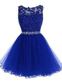 Disney inspired Royal Blue Cocktail Dress