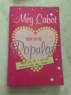 How to be Popular Book by Meg Cabot