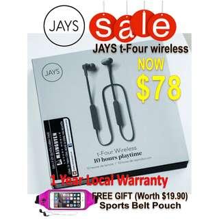 JAYS t-Four Wireless (1 year warranty)