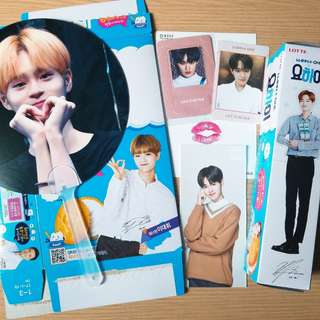 Wanna one 大輝 yohi lip card art book 小卡 扇 set