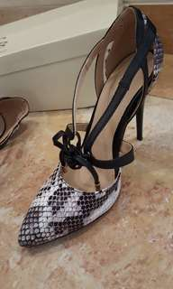 Snakeskin Mary Kate High Heel