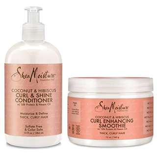 Shea Moisture Coconut and Hibiscus Combination Pack – 13 oz.