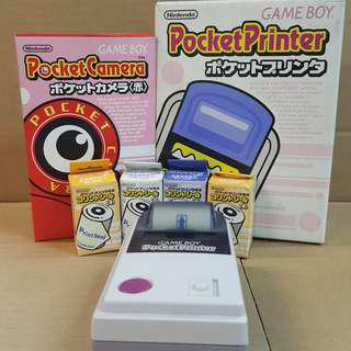 GAME BOY POCKET PRINTER + POCKET CAMERA 紅色 + 9卷打印紙