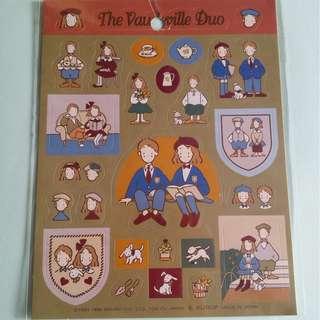絕版 Sanrio The Vaudeville Duo 狗男女1996年出品貼紙