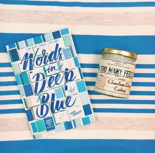 (brand new, instock!) words in deep blue