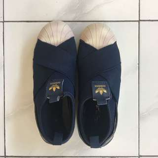 Sepatu ADIDAS Slip On Navy Premium Quality size 39
