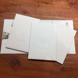 Chanel Paper Card Slips x 3 pcs