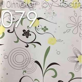 Floral Design Wallpaper Self Adhesive