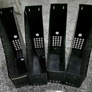 4 Sets - Black Stainless Steel Magazine Holder