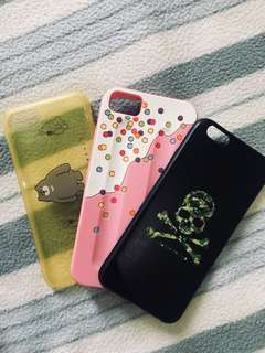 Iphone 6s casing 3pcs for 300