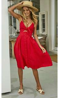 Dresses available in red and white color