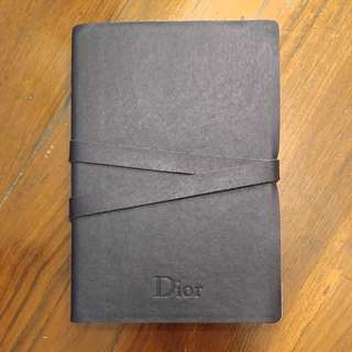 NEW Leather CD Christain Dior Dairy Notebook Lambskin Hipster NEW 真皮 CD Christain Dior 記事簿 日記 文青
