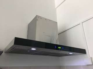 Tuscany Chimney Hood 1000M3/H 90 cm Touch