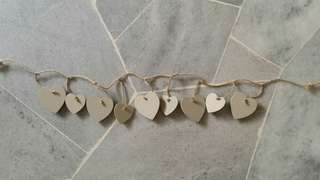 Wooden Heart Shape Packs