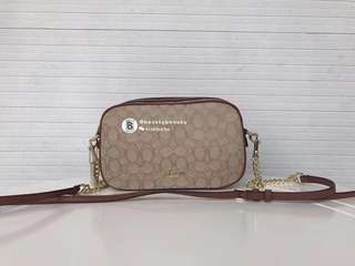 Coach Isla Chained Crossbody in signature jacquard