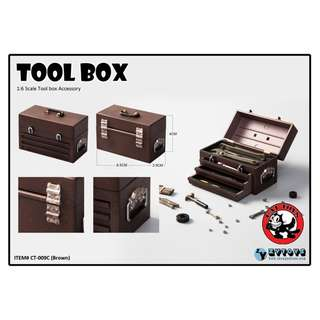 [PRE ORDER] Cat Toys - CT-009-C - Tool Box (Brown) - 1/6 Collectible Accessories