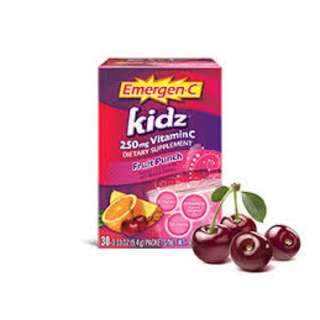 Kidz Vitamin C 250mg, 30 sachets (Fruit Punch)