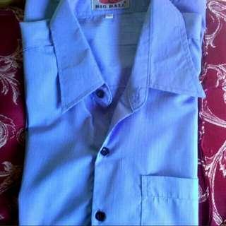 men blue short sleeve polo
