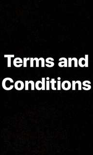 [T&C] Terms and Conditions