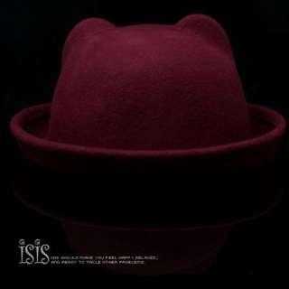 🚚 🉐️ISIS純羊毛圓頂帽✨棗紅