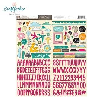 🚚 ♥Stickers♥ Alphabet & Icon Cardstock Stickers 186pcs